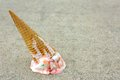 Dropped Ice Cream Cone Royalty Free Stock Photo