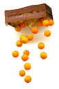 Dropping oranges Royalty Free Stock Photography