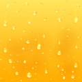Drops on glass yellow drink background illustration Royalty Free Stock Image