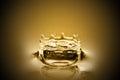 Drops of liquid gold Royalty Free Stock Photo