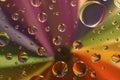 Drops on a rainbow Royalty Free Stock Photo