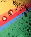 Drops on the rainbow Royalty Free Stock Photo