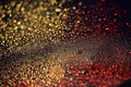 Drops rains of rain on window with bokeh lights abstract Royalty Free Stock Photos