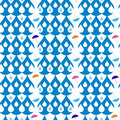 Drops seamless pattern of and umbrellas on rain Stock Photography