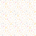 Drops Seamless pattern. Vector background. Neutral light. Seamle Royalty Free Stock Photos