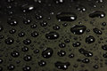 Drops of water on a dark background beautiful abstract texture macro Stock Photo