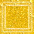 Drops on yellow background. Blur. Royalty Free Stock Photo