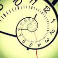 Drost clock apstract wall in the droste effect Stock Photography