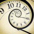 Drost clock old vintage in the effect Royalty Free Stock Image