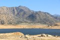 Drought in california low level of lake isabella kern county united states landscape Royalty Free Stock Photo
