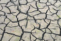 Drought flooded fields drying in the sun Stock Photos