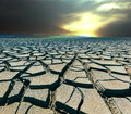 Drought land in the bolivia Stock Image