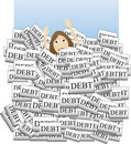 Drowning in Debt Royalty Free Stock Photo