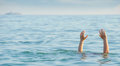 The drowning man Stock Photography