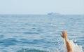 The drowning man Stock Photos