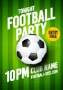 Vector Illustration soccer football sports league tournament flyer poster event design template.