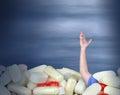 Drug abuse addiction chronic pain medication cry for help Royalty Free Stock Photo