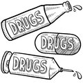 Drug abuse sketch Royalty Free Stock Photography