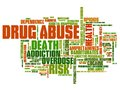 Drug addiction abuse problem issues and concepts word cloud illustration word collage concept Royalty Free Stock Photos