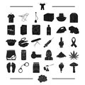 Drug addiction, law and other web icon in black style., cleaning, hygiene, health, icons in set collection.