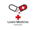 Drug Capsule Logo Design