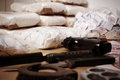 Drug criminality packages raw opium dozens and weapons seized by police Royalty Free Stock Photo