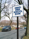 Drug free school zone Royalty Free Stock Photography