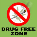 Drug Free Zone Stock Image