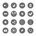 Drug icons set