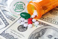 Drug and medical costs - healthcare Royalty Free Stock Photo
