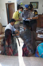 Drug raid police conducted a at a motel in karanganyar central java indonesia to suppress crime Royalty Free Stock Photo
