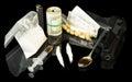 Drug syringe and heroin Royalty Free Stock Photo