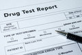 Drug test report Royalty Free Stock Photo