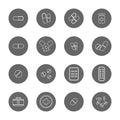 Drug thin line icons set
