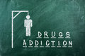 Drugs adiction Stock Photography