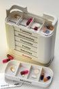Daily Drugs Box - Medication Royalty Free Stock Photo