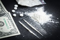 Drugs narcotic recreational on table Royalty Free Stock Images