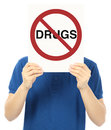 Drugs Not Allowed Royalty Free Stock Photos
