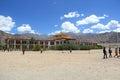 Druk weiße lotus school ladakh Lizenzfreie Stockfotografie