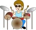 Drum boy Royalty Free Stock Photo