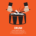 Drum and drummer s hand vector illustration eps Stock Photography