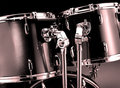 Drum-kit closeup Royalty Free Stock Photo