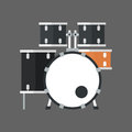 Drum Set Icon Music Instrument Concept