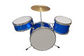 Drum set mini isolated on white background Royalty Free Stock Image