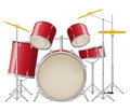 Drum set vector illustration isolated on white background Stock Image