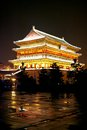 Drum tower night scenes in xian city of china Royalty Free Stock Images