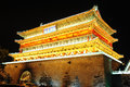 Drum tower in xian china night view of the famous landmark of Royalty Free Stock Image
