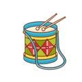 Drum. Toy. Children`s toy.