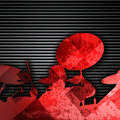 Drummer background abstract music concept silhouette Royalty Free Stock Photos