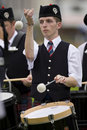 Drummer -  Highland Games - Scotland Stock Photo